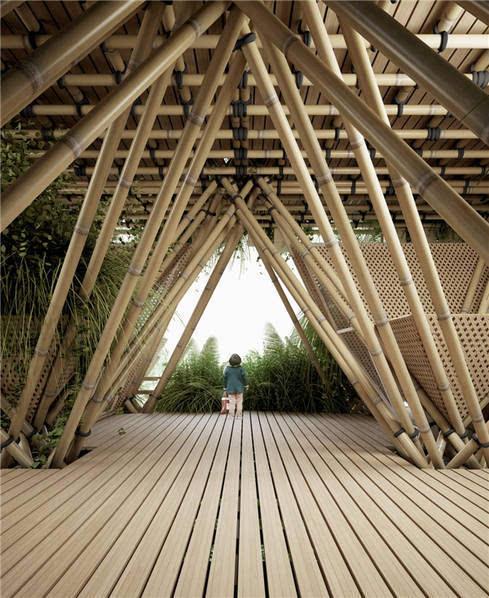 他用竹子打造一栋房子 却未使用一根钉子的照片 - 10