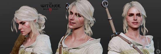 年度游戏《巫师3》原画公开:女主美艳的照片 - 2