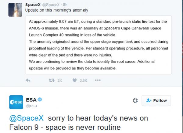 """SpaceX""""猎鹰9号""""爆炸完整视频公布的照片 - 12"""
