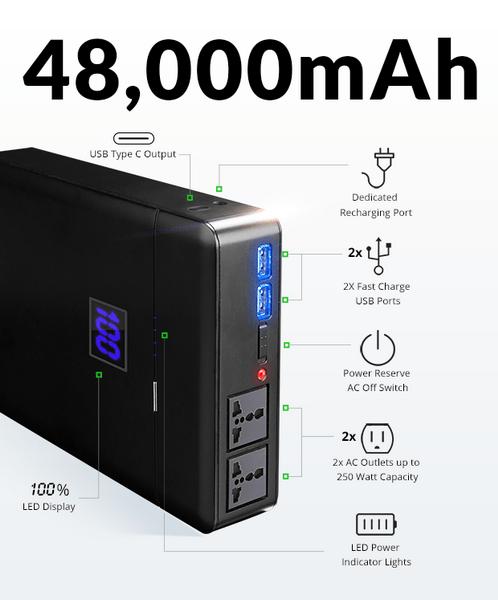容量达48000mAh的移动电源 支持太阳能充电的照片 - 2