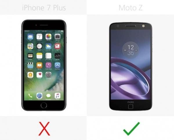 iPhone 7 Plus和Moto Z规格参数对比的照片 - 5