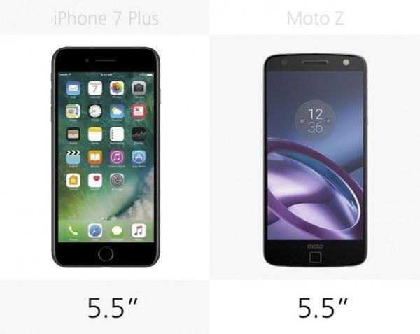 iPhone 7 Plus和Moto Z规格参数对比的照片 - 7