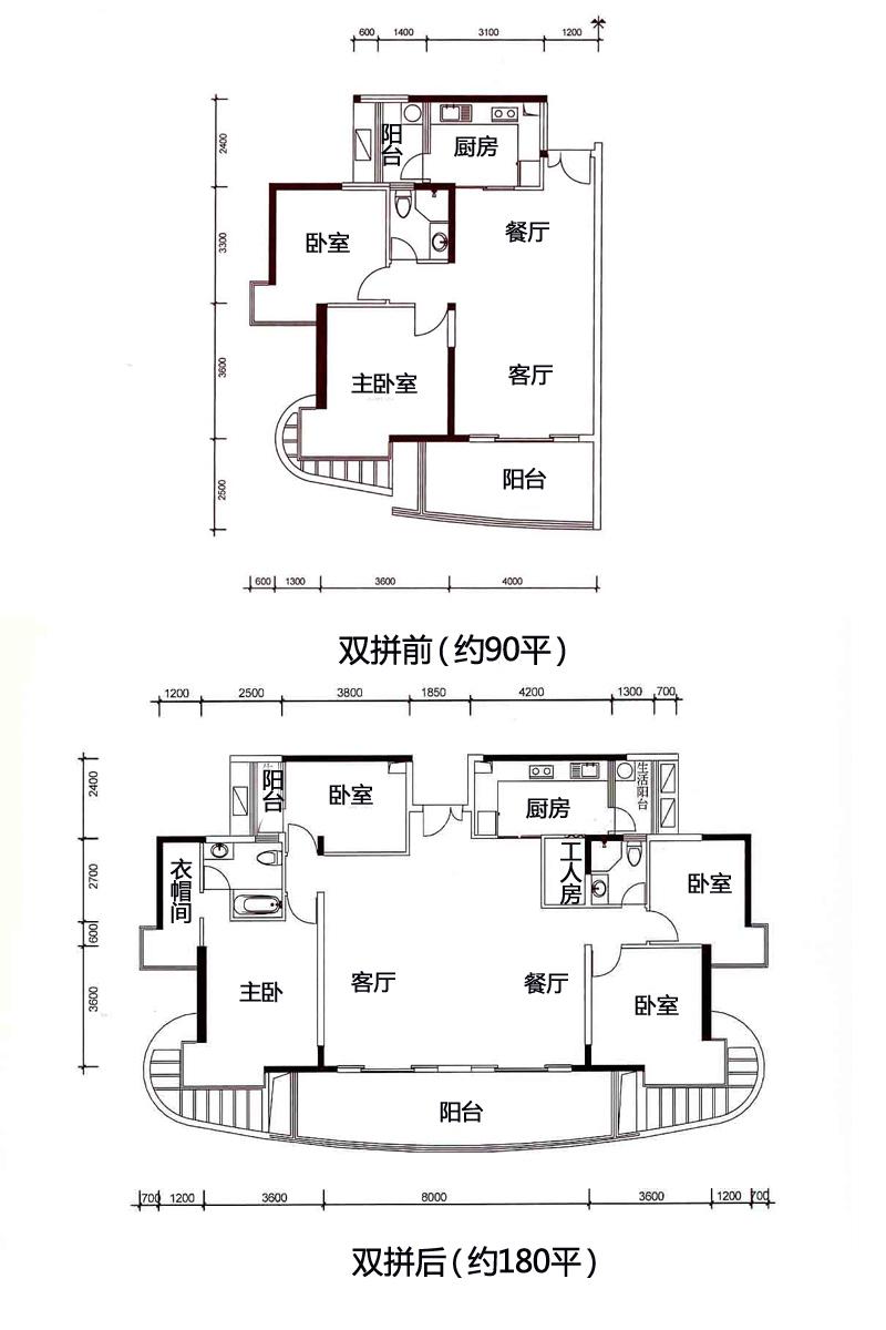 二、双拼户型的优势 1、 总面积大。两个90平米以下的小房子,打通连接后的总面积比较大。 2、 价格便宜。一般来讲,双拼户型的房子比单个户型的房子的价格便宜一些,购房者如果买和其面积相当的单户型房子,可想单个户型的房子比双拼户型的房子的总价要高出多少。 3、 两个房产证。双拼户型由于是两个小面积户型捆绑销售,因而它仍然是两个房产证,而单个户型只有一个房产证。这适合于组团购买的人群。有些人会自己留一个,给孩子一个,让孩子名下有房产,方便他们日后贷款、开展事业等。 4、 契税减少。大部分双拼户型都在90平米
