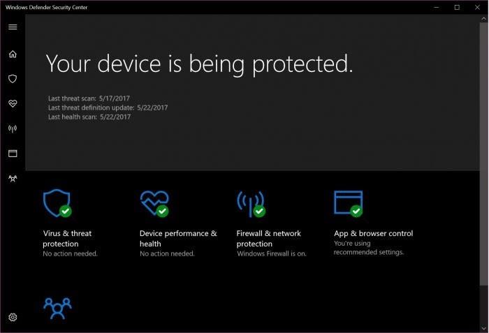 Win7上,仅靠Windows Defender不足以对抗WannaCry的照片