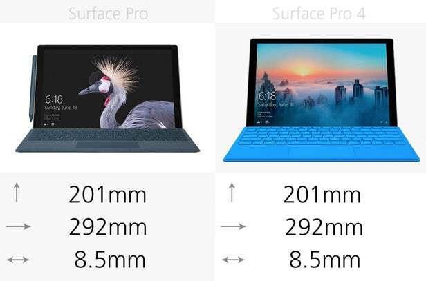 都有那些升级?前后两代Surface Pro规格参数对比的照片 - 2