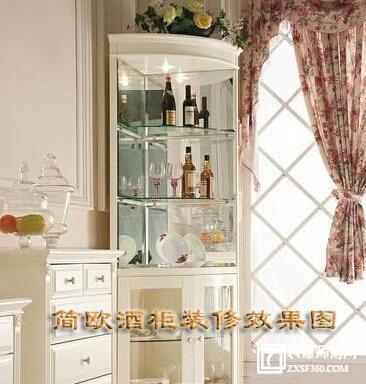 简欧酒柜装修效果图(客厅不可少的风格)
