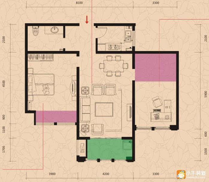最新80平两居室装修效果图 免费拿走!