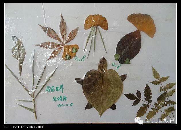 幼儿园手工树叶粘贴_幼儿园树叶粘贴画手工创意DIY制作大全(太美了)